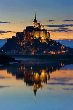 Mont Saint-Michel is an island commune in Normandy, France.This is one of France's most recognizable landmarks.