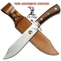 @ShopAndThinkBig.com - Knife is 11.75 Overall 440 Stainless Steel Blade High Polished Pakkawood Handle With Elk Ridge Medallion Includes Leather Sheath http://www.shopandthinkbig.com/elk-ridge-fixed-blade-knife-with-leather-sheath-elk-ridge-p-919.html