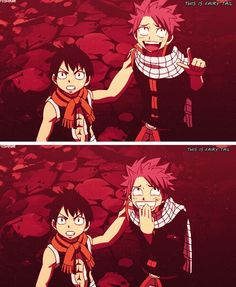 "Lol natsu's face! And Romeo is totally serious. ""But look Romeo, he's riding an octopus!"""