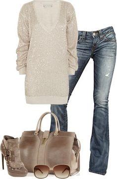 Los jeans  nunca pasarán de moda, existen pegados al cuerpo como anchos. Aquí te traigo varias imágenes con outfits  o conjuntos de moda  pa...