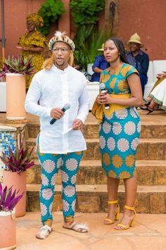 Zulu Traditional Wedding Dresses, South African Traditional Dresses, African Traditional Wedding, Couples African Outfits, African Attire, African Dress, Xhosa Attire, Zulu Wedding, Wedding Blog