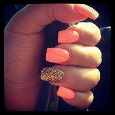 Hot coral. And gold. :)