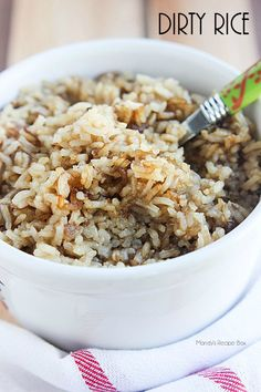 Dirty Rice will be the best rice you have ever eaten. It's not dry at all and has a great flavor. Prepare to add it to your weekly menu!