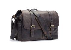 ONA | The Leather Brixton - Dark Truffle - Camera and laptop messenger bag