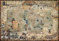 Pirate map - Fototapeter & Tapeter - Photowall
