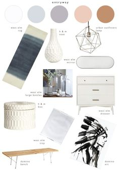 fashion design to interior design : bringing summer into entryway | LindyJacoby.com