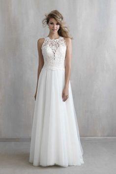 gorgeous? high neck a line MJ203 wedding dress images 0