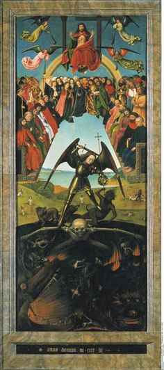 Petrus Christus, Triptyque du Jugement Dernier, 1452, huile sur bois, 134 x 56 cm, BErlin, Gemäldegalerie