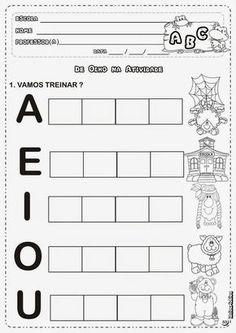 Atividades Com Vogais Para Alfabetização Infantil Toddler Activities, Preschool Activities, Jean Piaget, Abc Phonics, Lettering Tutorial, Preschool Printables, Kids Learning, Worksheets, Back To School