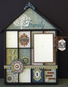 Altered display tray by Kelly Maatman using CTMH Avonlea papers