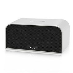 iXCC Portable Wireless Bluetooth Speaker V40 Water Resistant DualDriver Stereo Speakers with Enhanced HD Bass Builtin Mic and Aux Input  Silver * Find out more about the great product at the image link.Note:It is affiliate link to Amazon.