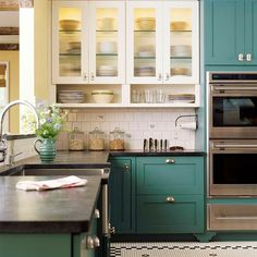 Sometimes you want a paint color that's got depth and sophistication, but is willing to play a supporting role. If you're looking for a blue that's bold but muted with just a touch of gray or green, check out Benjamin Moore's Blue Echo. Play up the green tones in this nature-inspired teal by combining it ...