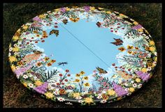 Floral Meadow Table by ReincarnationsDotCom on deviantART