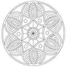 Mandala  18 - Coloring page - MANDALA coloring pages - Mandalas for ADVANCED