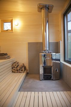 Interior of Arjan Modern Small Sauna Room Interior, Interior Design Living Room, Interior Ideas, Modern Saunas, Jacuzzi, Relax House, Sauna House, Sauna Steam Room, Sauna Design