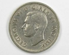 1939 CANADIAN 5 CENTS SILVER COIN CO 9 Big Coins, Coin Auctions, 5 Cents, Silver Coins, Money, Silver Quarters, Silver