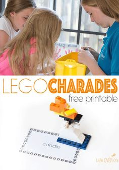 LEGO Charades is the perfect family and kid activity for all ages!! Use the free printable cards, build the words on the cards with the LEGO bricks and have everyone guess what is being built! So much fun!