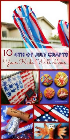 10 kid friendly 4th of July crafts to try this year.  AHHHHHHH fourth of July is this week!!! Maybe me and my mom can try these out...and if not this year maybe next year!!!!! :D