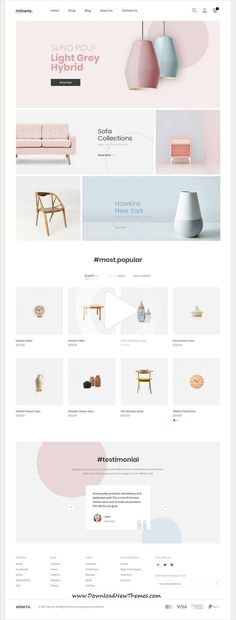 Minera is a clean, minimalist and modern design responsive #Shopify #template for beautiful online #shop eCommerce #website with 10+ niche homepage #layouts to download & live preview click on image or Visit #webdesign #webdesignlayout Web And App Design, Minimal Web Design, Responsive Web Design, Web Design Trends, Design Websites, Ui Ux Design, Web Design Grid, Layout Design, Layout Web