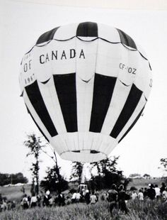 The Spirit of Canada, launched from a field near the corner of Smyth and St. The balloon flew off in 1967 as a part of Centennial celebrations. St Laurent, The Balloon, Capital City, Celebrations, Corner, Product Launch, Mid Century, Spirit, Canada