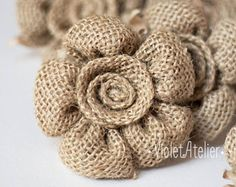 Rustic Wedding Toasting Flutes, Burlap F - Diy Crafts - DIY & Crafts You are in the right place about DIY Fabric Flowers how to make Here we offer you the most beautiful pictures about the DIY Fabric Burlap Ornaments, Burlap Crafts, Burlap Fabric, Burlap Lace, Burlap Flowers, Fabric Flowers, Fabric Flower Headbands, Groomsmen Boutonniere, Wedding Toasts