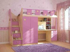 http://taizh.com/wp-content/uploads/2014/12/pretty-pink-bunk-bed-design-for-girl-bedroom-with-study-table-underneath-also-purpple-furry-rug-on-wooden-floor-as-well-nice-wallpaper-and-glass-window.jpeg