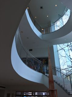 The entrance staircase is almost lyric in its shapes and scale