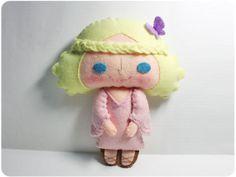 Christy girl - doll pattern, felt doll, PDF