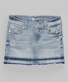 Love this Bleach Out Denim Skirt - Girls on #zulily! #zulilyfinds