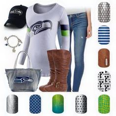 Are the Seahawks your Super Bowl team for 2015? Order today & you should make the 7-10 day shipping!  www.barb2d.jamberrynails.net