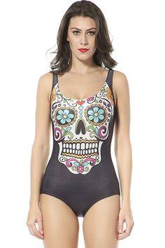 Skull Spandex Bodysuits - OASAP.com