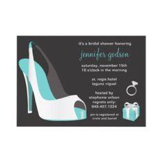 Stiletto/high heel bridal shower invites