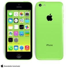 """iPhone 5c Verde com 16GB, Processador A6, iOS 7, Câmera de 08 MP, Display de 4"""", 4G + WiFi"""
