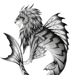 Sea Lion Mythical Number: #2926     Culture: Medieval     Attribute:Heraldic     Attribute:Aquatic     Behaviour:Friendly This had the upper-half of a lion and the lower-half of a fish.