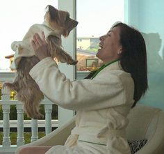 Gorgeous Adult Bath Robe to match your Pup!! You both can indulge in style ☺ www.teacuptutucharm.com