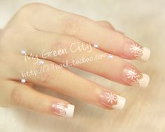 Aliexpress.com : Buy 2013 Merry Christmas winter snowflake false nails,elegant natural french fake nail,24 pcs,free shipping from Reliable false nails tips suppliers on Jessie's shop. $6.79