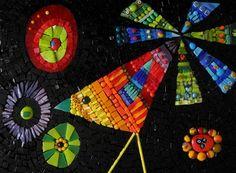 """Tableau mosaïque """"L'oiseau soleil""""  : Mosaiques par antigone-mosaique sur ALittleMarket"""