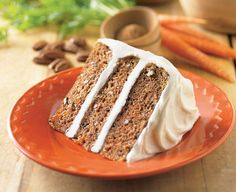 """Carrot Cake is the perfect dessert for the holidays! The addition of Daisy Sour Cream makes it so moist and delicious. """"Sponsored by Daisy Sour Cream. Round Cake Pans, Round Cakes, Cake Recipe With Sour Cream, Daisy Sour Cream, Daisy Brand, Pumpkin Cheesecake Bars, Coconut Macaroons, Thanksgiving Desserts, Carrot Cake"""