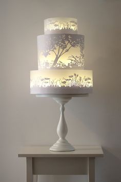 'Glowing Silhouette' wedding cake, price on request, Rosalind Miller Cakes