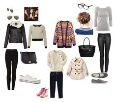 No. 142 by emmurray-md on Polyvore featuring H&M, Topshop, Vans, Forever New, Ray-Ban, 7 For All Mankind, Gap and Burberry