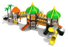 Noahs Park and Playgrounds - Lincoln Rocks Structure- Colorful, unique and most importantly... FUN! The Lincoln Rocks Structure will be the hit of any playground with it's fun tropical themed features. Unleash you children's creative minds with the tropical climbers, slides, and tree toppers. (http://www.noahsplay.com/ada-equipment/ada-structures/lincoln-rocks-structure/)