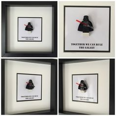 Star Wars Quote Minifigure Frame Mum Gift Geek by FigureThatBox