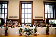 Detroit Public Library Reception Michigan Wedding Venues, Beautiful Library, Library Wedding, Little White, Here Comes The Bride, Wedding Blog, Detroit, Table Settings, Reception