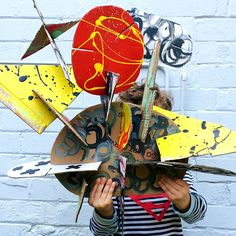 Make GIANT Recycled Cardboard Sculptures Awesome open-ended art and building craft project for kids.
