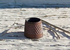 Antique Rusty Tailors Thimble Open Top Thimble Sewing Room
