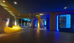 Terme Alte in Rivisondoli (L'Aquila Province), Italy. Interior architecture and visual design: Simone Micheli - Lighting design: Simone Micheli - Photographed by Jürgen Eheim. #iGuzzini #Light #Lighting #wellnesscentre