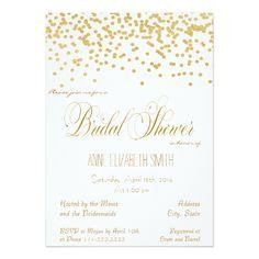Gold Confetti Bridal Shower Invitation