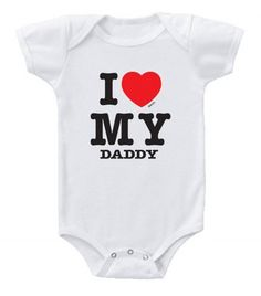 The I Love MY Daddy baby romper is a parody of the famous I Love NY tee and a…