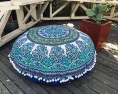 Large bohemian mandala floor cushion- COVER ONLY