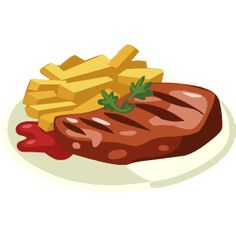 Clip art of steak and beans clipart kid - ClipartBarn Steak And Chips, Lollipop Recipe, Filet Mignon Steak, Chicken Lollipops, Rose Gold Backgrounds, Owl Clip Art, Fruit Icons, Food Clipart, Modern Food